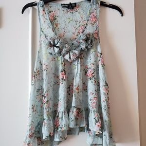 Living Doll flowery and flowy tank top